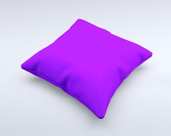 The Solid Purple ink-Fuzed Decorative Throw Pillow