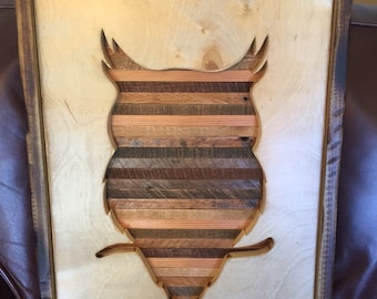 Owl Silhouette - Reclaimed Wood