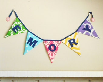 Colorful Name or Party Banner / Bunting - Photo Prop - Custom Banner - color bunting - party banner - Color banner - bright colors