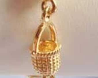 Brushed & Polished Gold 'Buckets' Linked Bracelet
