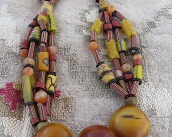 RARE Antique Amber Trade Beads