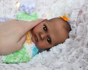 Ethnic preemie reborn baby Malenka by Lenka Polacek Hucinova