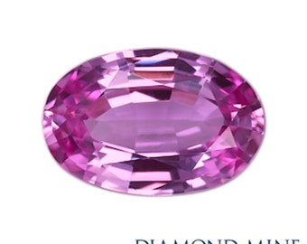 A Beautiful NaturalSapphire 1.4 Pink Oval Extra