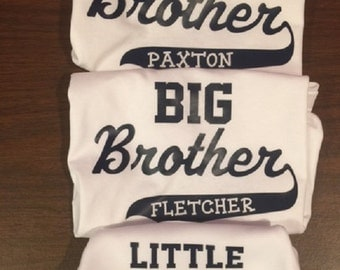 biggest big and little brother, three brother shirt set, 3 brother shirt set, three brothers tshirts, 3 brothers shirts, 3 brothers t-shirts