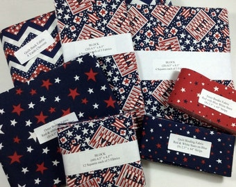 Take 5 Patriotic Precut Quilt Kit Complete Fabric Plus Pattern