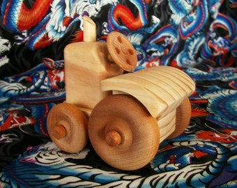 Wood Toy Tractor