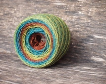 Gradient Wool Yarn, Wool for knitting, crochet,100% multicolored wool, Brown, Moss, Turquoise, Lithuanian Wool Yarn