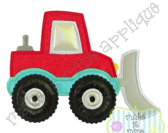 Applique Embroidery Construction Snow Plow Truck Machine Applique Design