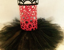 hair bow organizer, hair clip display, hair clip holder, hair bow holder, pink black decor,monster high decor, monster high hair bow stand