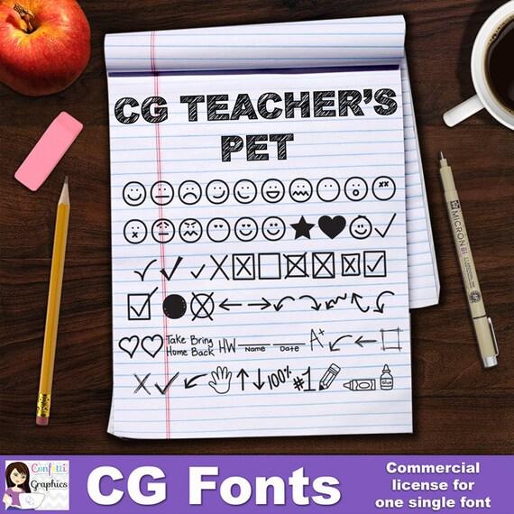 LCR Teacher s Pet Font