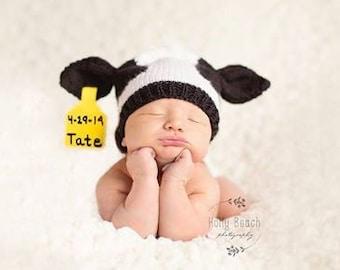 Knit Holstein Baby Hat Pattern