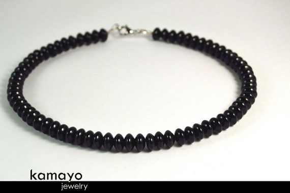 Mens' BLACK ONYX NECKLACE