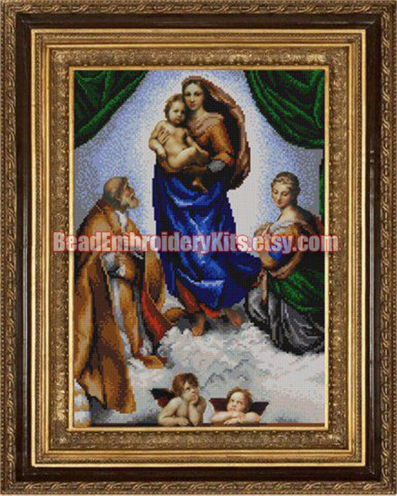 Sistine Madonna DIY bead embroidery kit beaded painting craft set