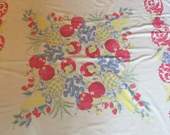 Vintage Fruits and Florals Tablecloth