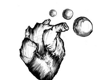 Bubbles A4 print