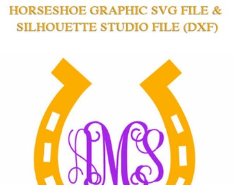 Horseshoe for Cutting Machines | SVG and Silhouette Studio (DXF)
