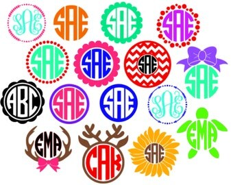 Personalized Circle Initial Vinyl Monogram