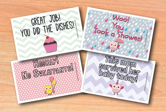 Adult Reward Stickers - New Mom or Baby Shower Set | Adulting Stickers for Grown Ups