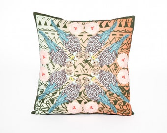 Bluebell Budgie Cushion