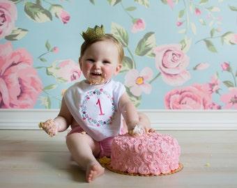 Girl Birthday Smash Cake Outfit