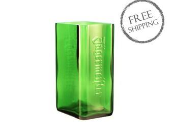 Green Jagermeister Rectilinear Vase