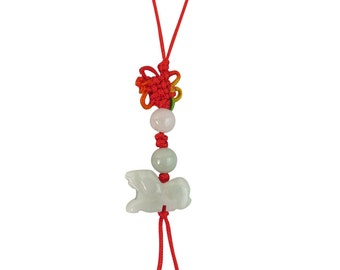 Lucky Real Jade Phone Charm Chinese Year Of The Dog