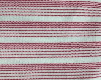 Vintage pink striped fat quarter of fabric