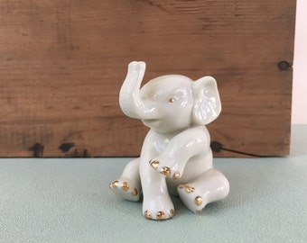 Lenox Gold and White Baby Elephant