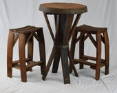 Items Similar To Pub Table And Chairs From Reclaimed Wine