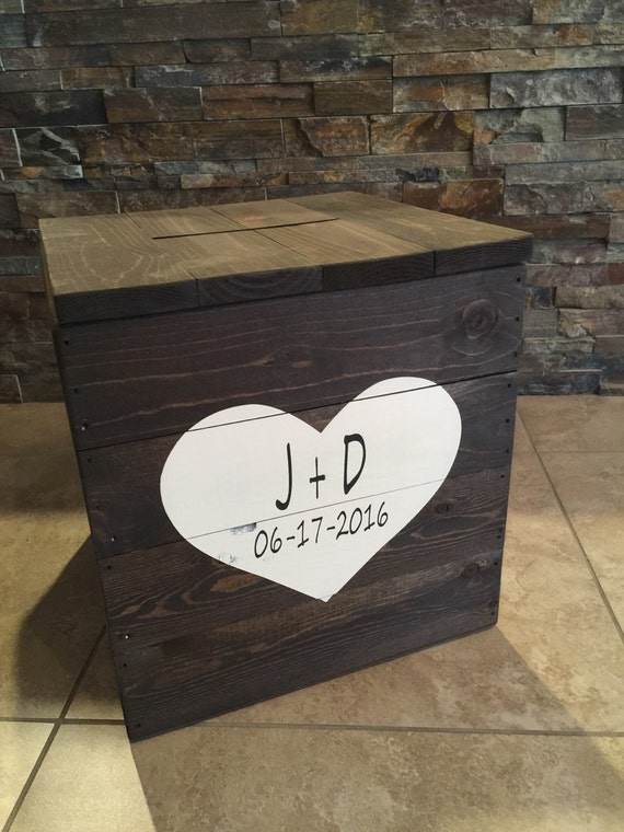 Rustic Wedding Gift Card Box : Rustic Pallet Wood Wooden Wedding Gift Card Box Wedding Card Box ...