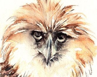 Bird Original Watercolor Painting, Harpyia - Harpey Eagle Painting, Bird Painting