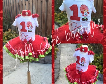 strawberry girl  tutu set