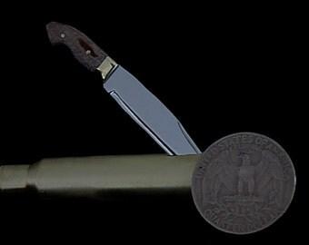 Miniature moose handle Bowie knife