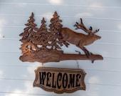Animal Wood Carving, Elk ...