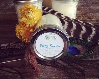Gypsy Soul Soy Candle, Bohemian Hippie Festival Candle, Ball Jar Candle