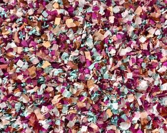 Wine Mocha Dusty Blue Rose Gold Confetti Biodegradable Winter Wedding Decorations Burgundy Claret Cabernet (25 Guests)