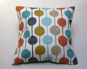 Harlequin  Fabric Cushion Cover - 'Taimi' Scandi Circle Design - Kingfisher