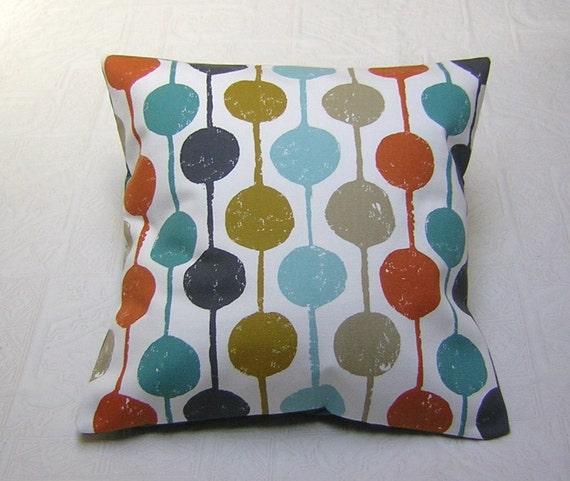 Harlequin  Fabric Cushion Cover - 'Taimi' Scandi Circle Design - Kingfisher