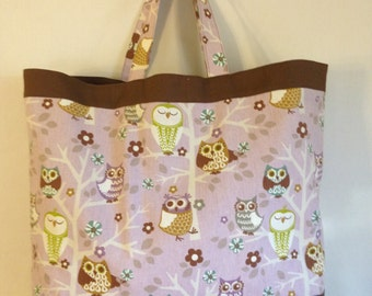 Tote Bag - Owls, Owls, Owls