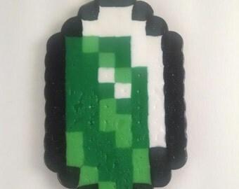 Legend of Zelda Rupee Perler Bead Sprite