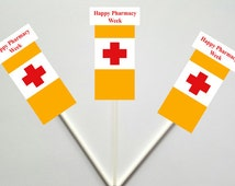 Pill Bottle Cupcake Toppers