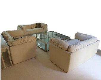 Mid Century Modern Saporiti Sofa Or Loveseat Italian