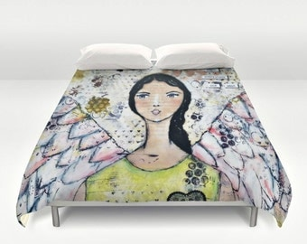 Mixed Media Duvet Cover: Twin, Full, Queen and King.
