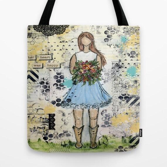 Tote bag: Inspirational Art tote bag.