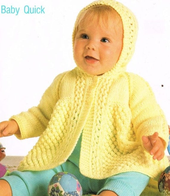 Knitting Patterns For Babies Matinee Coats : baby matinee coat vintage knitting pattern PDF instant