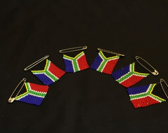 Beaded South African Pin