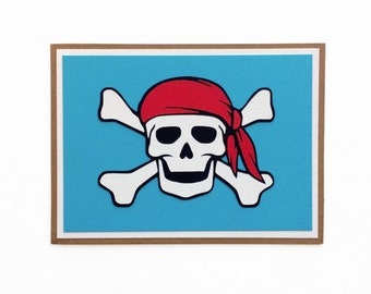 Pirate Skull Blank Card