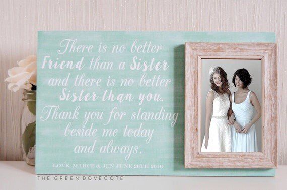 Wedding Gifts For The Bride From A Sister : Bridesmaid Gift Wedding Gift For Sister Maid Of Honor Gift