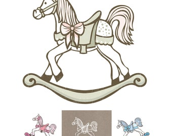 4 horses, new birth, boy, girl, birthday, baptism, 4 png files. no background, high resolution - 300 dpi,