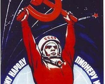 Soviet Union Cosmonaut Poster A3 Print